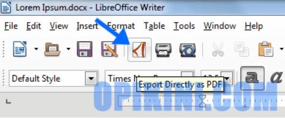 Cara Mengubah Word ke PDF Menggunakan Fitur Export di LibreOffice