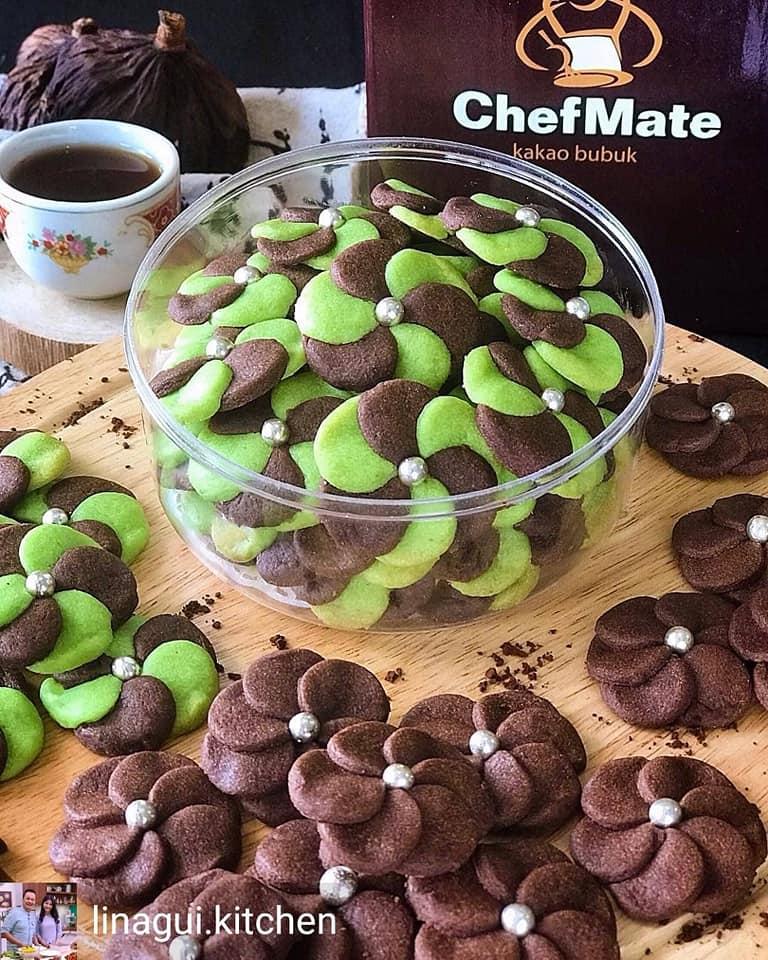Kue Kering Choco Pandan Cookies