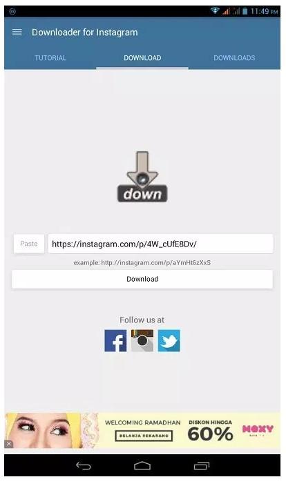 2 Cara Menyimpan Foto atau Video Instagram di HP Android