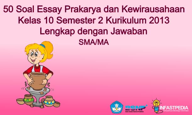 Soal Essay Prakarya dan Kewirausahaan Kelas X