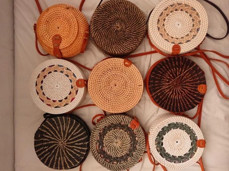 tas rotan - oleh-oleh khas Bali